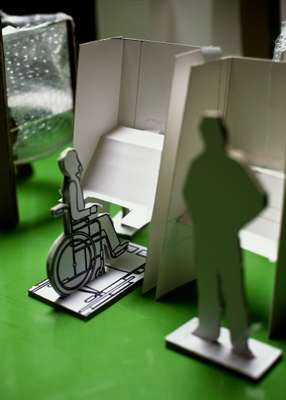 Model of the accessible voting booth