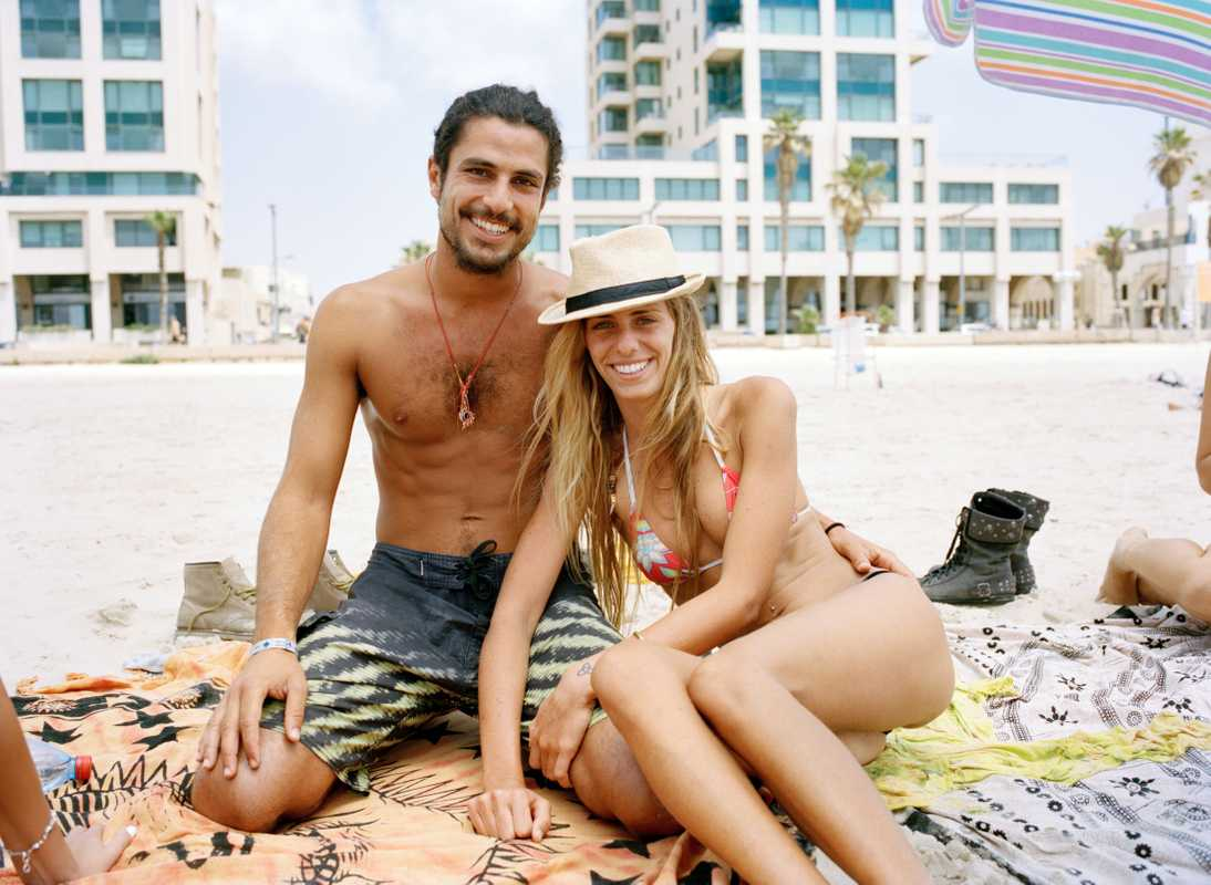 Maor, 25 and Maya, 24, on Banana Beach