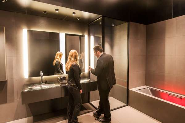 Bathroom interior by Roca x Armani