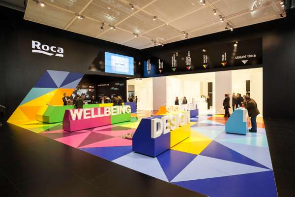 Roca's colourful booth