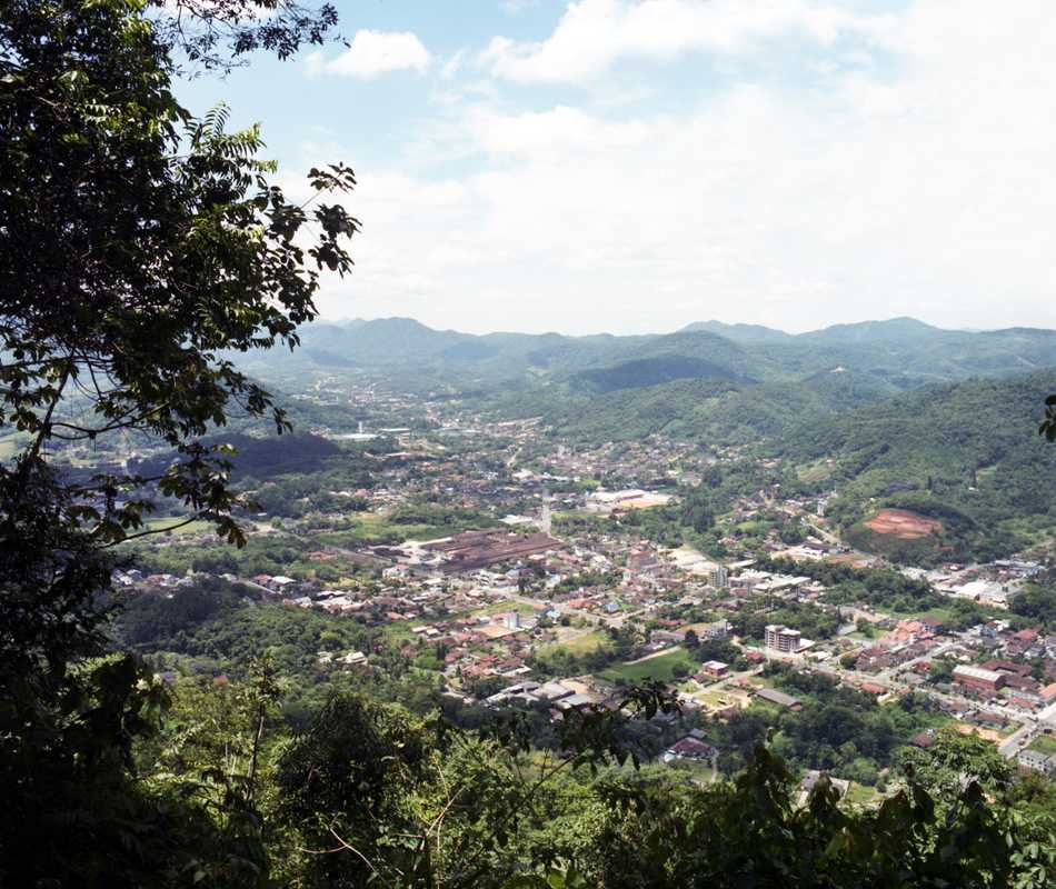 Bird's eye view of Pomerode, Santa Catarina