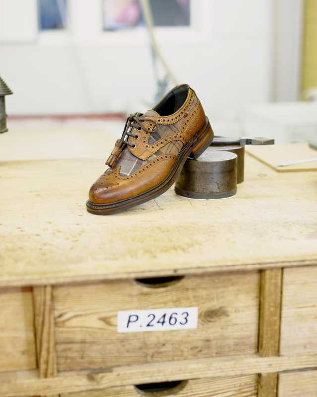 Cheaney x Barbour collaboration shoe