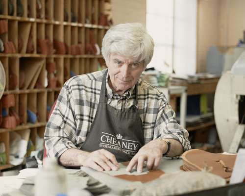 Joseph Cheaney & Sons - 'Closing Room' machinist responsible for shoe uppers