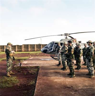 Senad special forces at their Pedro Juan Caballero base