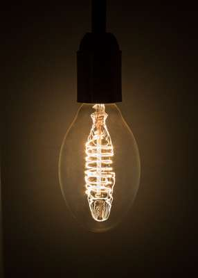The warm glow of Righi Licht's incandescent bulbs
