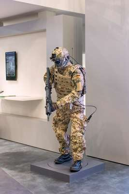 A mannequin at the Rheinmetall stand