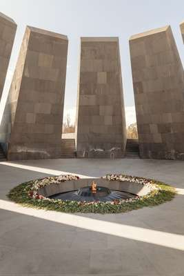 Eternal flame at the memorial