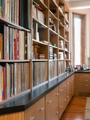 Bookcases in the Nulmans' office