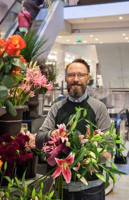 Stefan Fadenholz has been running in-house flower shop I Fiori since 2004