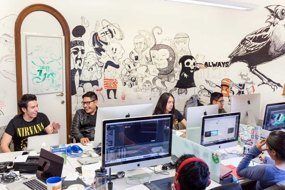 Motion graphic designers at the agency
