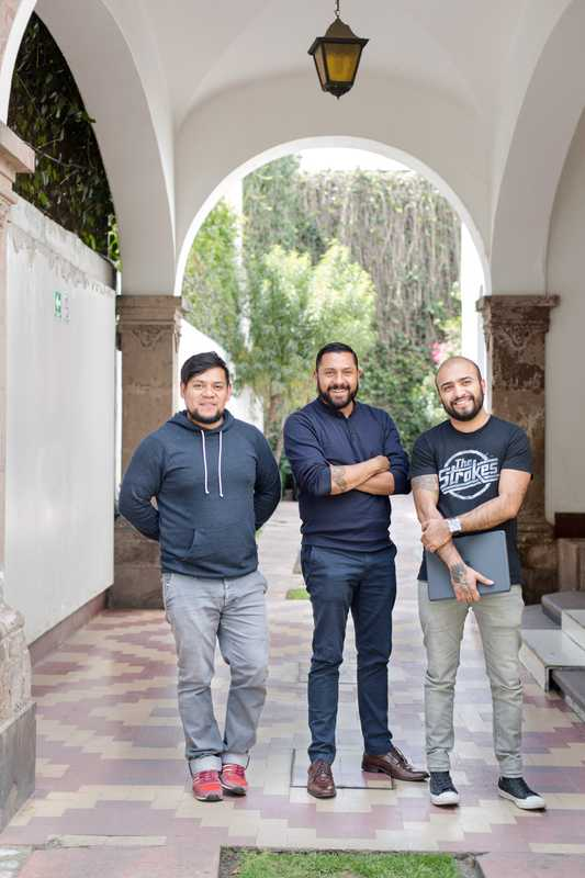 From l-r: copy editor Luis Manuel Meza, vice-president of creative Rafa Martínez and creative director Jorge Méndez