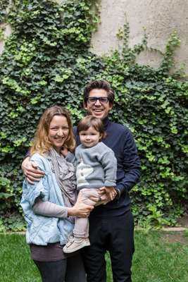 Amezcua with his wife and their daughter