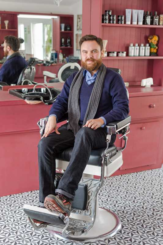 Dan Lastre, manager of the barber shop in Common People