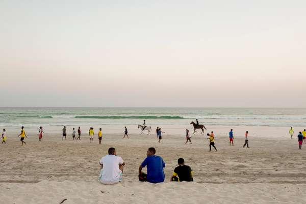Fine white sand on Salalah's beach