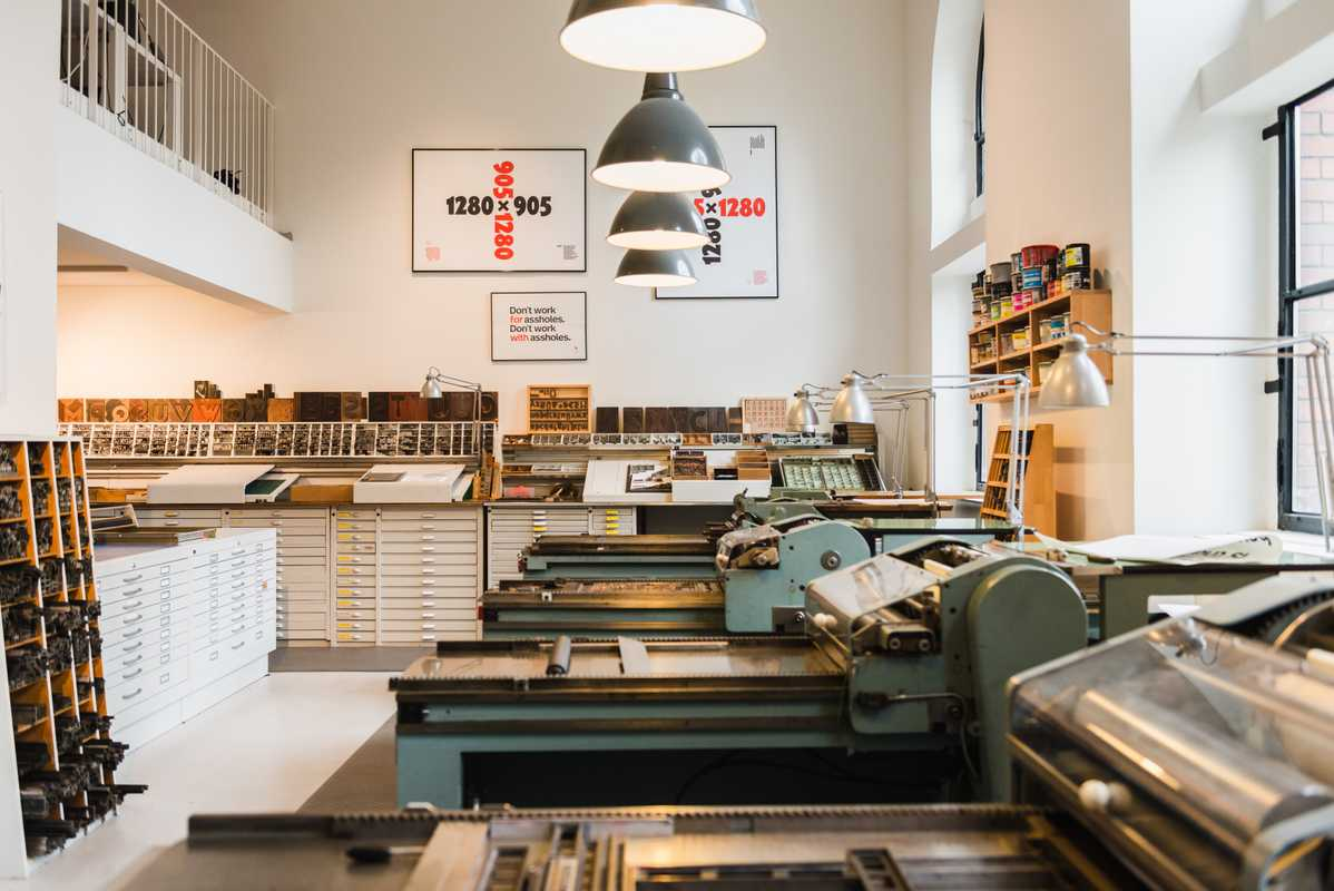 Printing presses  at the P98A studio