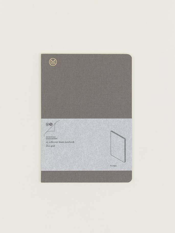 Monocle A5 softcover linen notebook