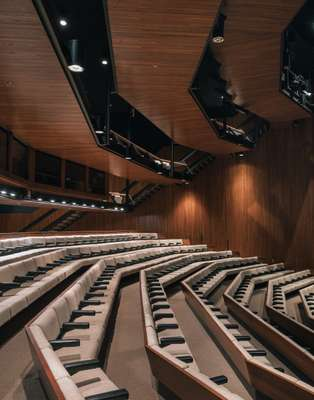 Auditorium that hosts large meetings and occasional cultural events