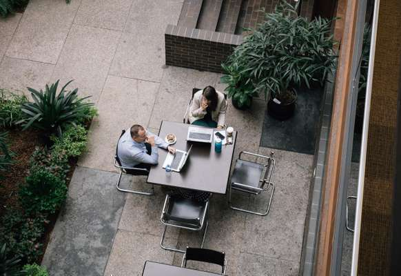 Secluded spot for one-to-one meetings