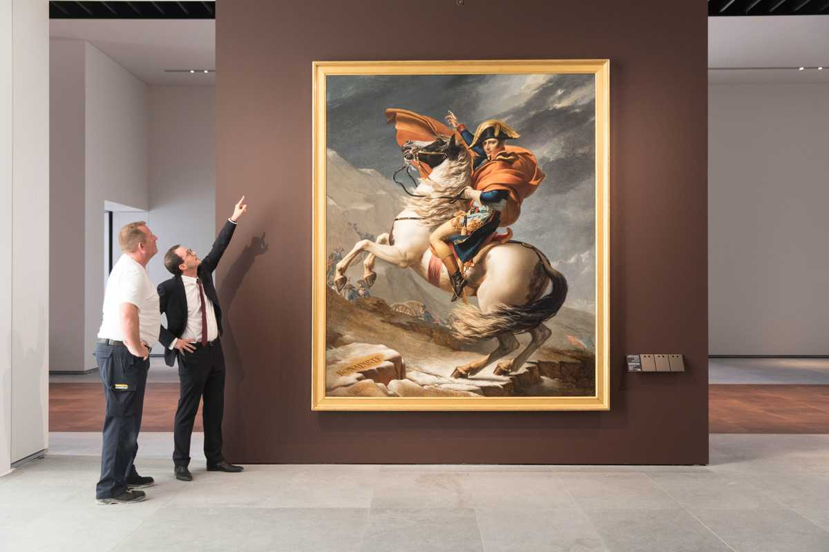 Hanging Jacques-Louis David's 'Napoleon Crossing the Alps'