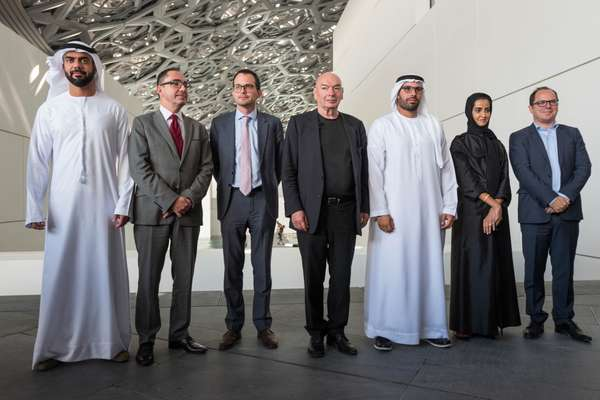 Team Louvre Abu Dhabi on opening day