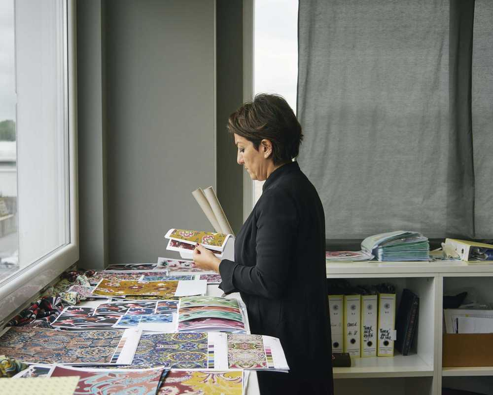 Neera Tana, creative director of Gentili Mosconi, in her office