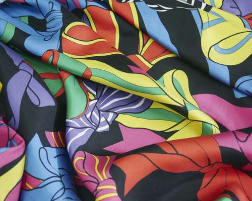 Colourful silk prints