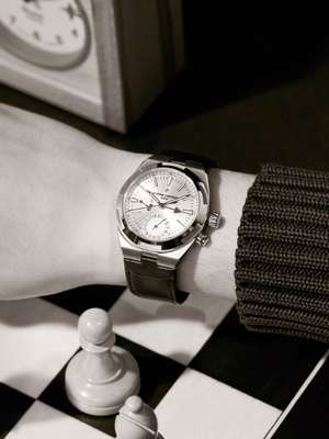 Overseas Dual Time by Vacheron Constantin, jumper by Canali
