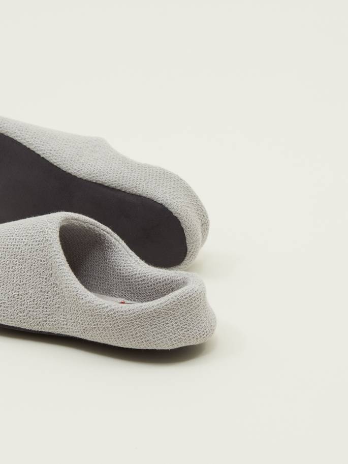 Lana Cotton Slippers by Kontex in Light Grey