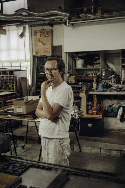 Printer Thomas Siemon in his workshop