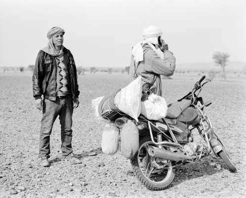 The Suzuki has replaced the sandal for the camel shepherd