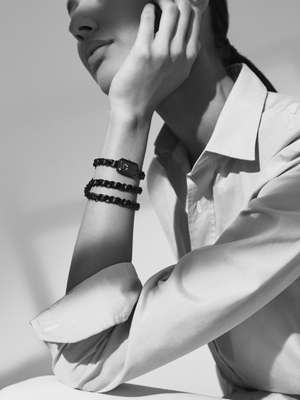 Shirt by Salvatore Piccolo, watch by Chanel
