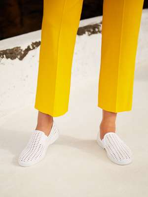 Trousers by Maison Rabih Kayrouz, slip-ons by Rivieras