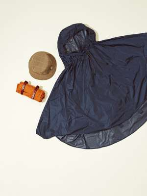 Rain capes by Brooks England, hat by Sealup