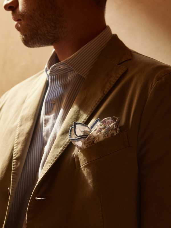 Jacket by Boglioli, shirt by Trunk from Trunk Clothiers, pocket square by Drake's