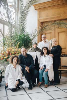 Rabih Kayrouz (second left) and his team
