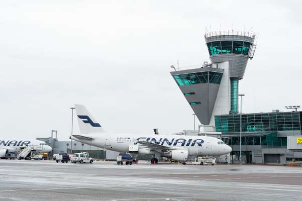 Finnair Airbus A319 at Helsinki Airport