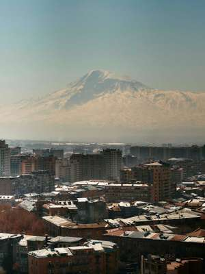 Turkey's Ararat Mountain looms over Armenia's capital, Yerevan