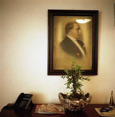 Ataturk portrait in Noel Micaleff's office