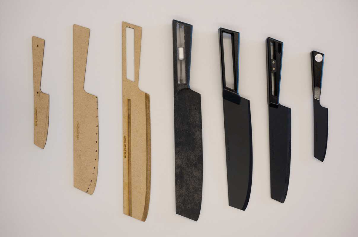 Knife prototypes by master's student Olivier Tache
