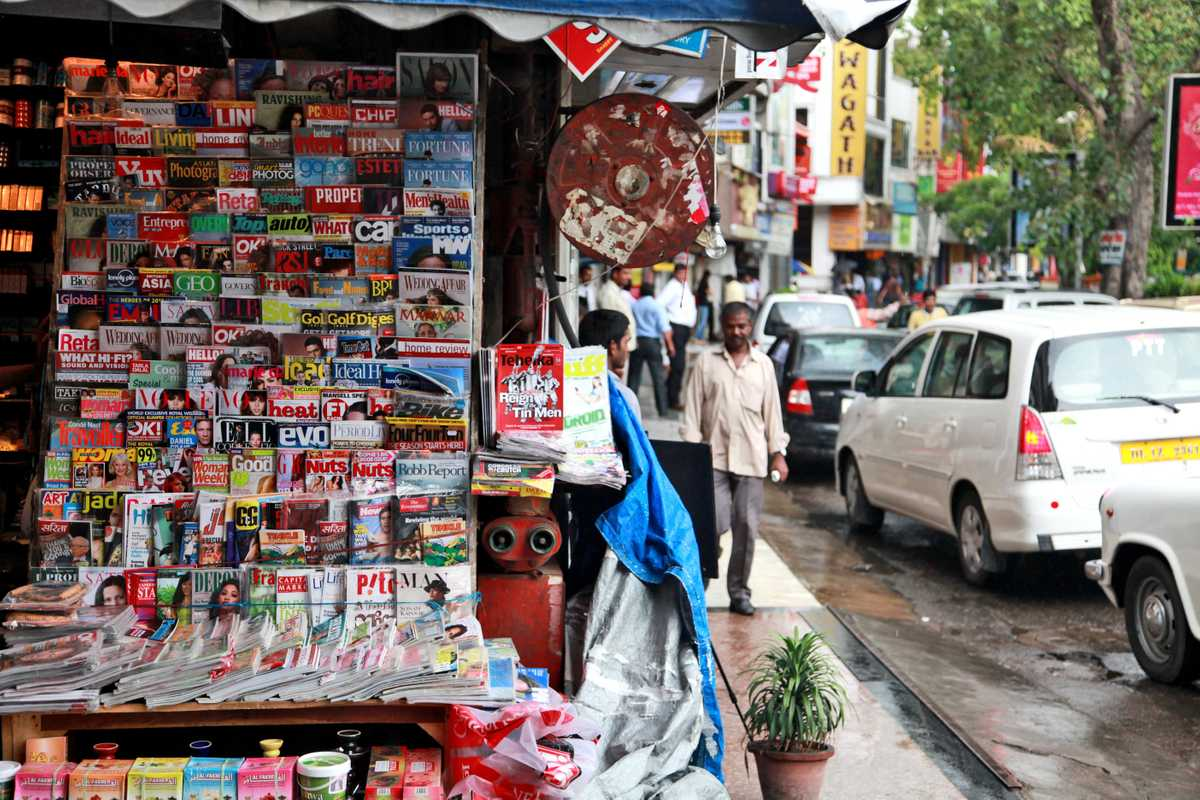 New Delhi newsstand