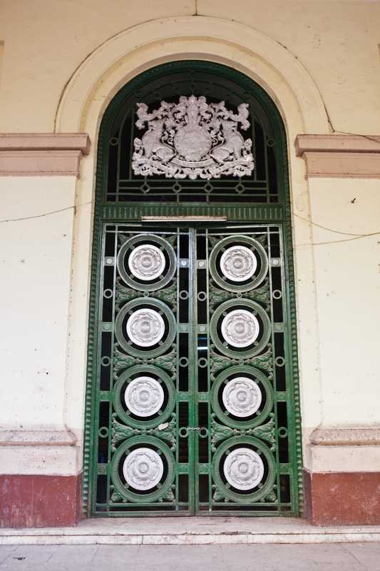 Door to former lower court building