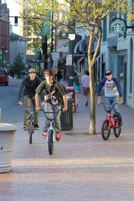 Cyclists on Congress Street