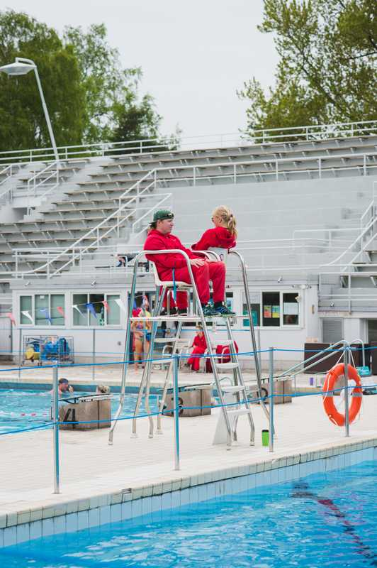Lifeguards at work