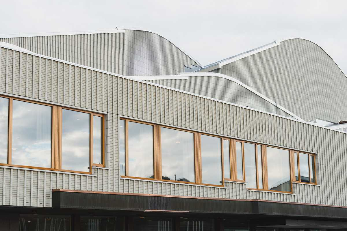 Lappia Hall's undulating roof