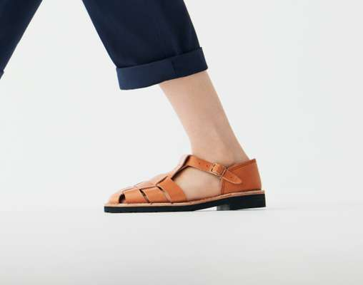 Trousers by United Arrows from United Arrows Roppongi Hills, sandals by Steve Mono