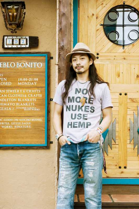 The owner, Masaru Tateuchi, of clothing shop Pueblo Bonito