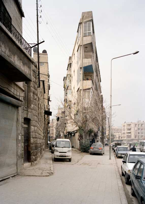 Aleppo's 'Flat Iron' building in the Midan Armenian quarter