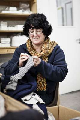 Most of Inis Meáin's knits are handmade