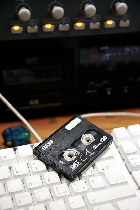 Voice recording on digital audio tape