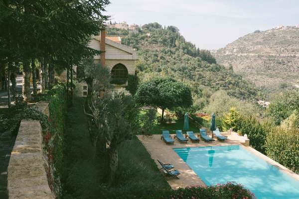 Bouyouti pool and the Chouf mountains